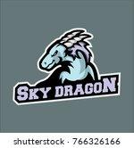 dragon sports team logo  dragon ... | Shutterstock .eps vector #766326166