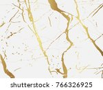 marble with golden texture... | Shutterstock .eps vector #766326925