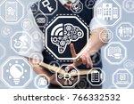 mind tech modern innovative... | Shutterstock . vector #766332532