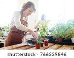 women's hobby. mother and... | Shutterstock . vector #766339846