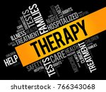 therapy word cloud collage ... | Shutterstock .eps vector #766343068