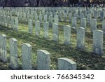back of army headstone and...   Shutterstock . vector #766345342