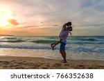 couple in love having romantic...   Shutterstock . vector #766352638