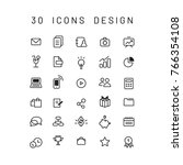 icons for office and business... | Shutterstock .eps vector #766354108