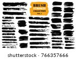 brush strokes text boxes.... | Shutterstock .eps vector #766357666