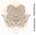 Ornate Hand Drawn Hamsa....