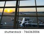 nov 11  2017 sunrise at incheon ...   Shutterstock . vector #766363006