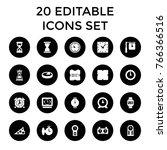 clock icons. set of 20 editable ... | Shutterstock .eps vector #766366516