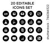 finance icons. set of 20... | Shutterstock .eps vector #766366522