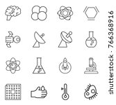 thin line icon set   brain ... | Shutterstock .eps vector #766368916