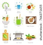 pay attention to health by... | Shutterstock .eps vector #766371655