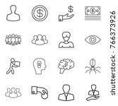 thin line icon set   man ... | Shutterstock .eps vector #766373926