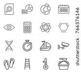 thin line icon set   search...