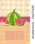 Card With Juicy Watermelon