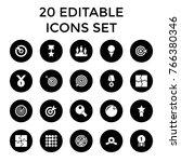 challenge icons. set of 20... | Shutterstock .eps vector #766380346
