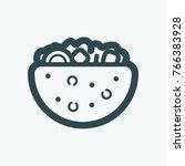 gyros pita  pita pocket vector... | Shutterstock .eps vector #766383928