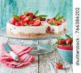 Sliced No Bake Strawberry...