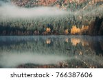 beautiful autumn scenery... | Shutterstock . vector #766387606
