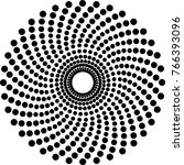 halftone dots circle vector | Shutterstock .eps vector #766393096