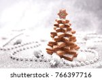 christmas tree with cookies | Shutterstock . vector #766397716