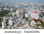 panoramic view of the bangkok... | Shutterstock . vector #766402096