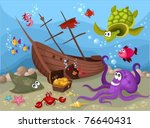 sea life | Shutterstock .eps vector #76640431