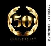 50th golden anniversary logo... | Shutterstock .eps vector #766406632