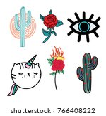 patch for tee   Shutterstock .eps vector #766408222