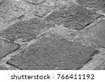 old paved bridge of bricks. old ... | Shutterstock . vector #766411192