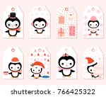 cute vector gift tags with... | Shutterstock .eps vector #766425322