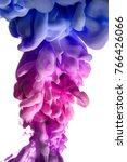 acrylic colors and ink in water.... | Shutterstock . vector #766426066