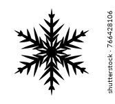 snowflake icon. christmas and... | Shutterstock .eps vector #766428106