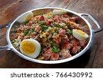 tropeiro beans  traditional... | Shutterstock . vector #766430992