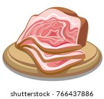 illustration of sliced boiled... | Shutterstock .eps vector #766437886