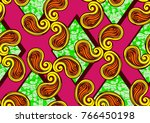 textile fashion african print... | Shutterstock .eps vector #766450198
