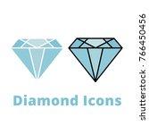diamons gem flat icons  two...