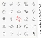 ecology and energy line icons | Shutterstock .eps vector #766451362