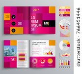 business brochure template... | Shutterstock .eps vector #766451446