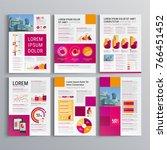 business brochure template... | Shutterstock .eps vector #766451452