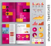 business brochure template... | Shutterstock .eps vector #766451455