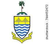 flag and coat of arms of penang   Shutterstock .eps vector #766452472