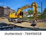 Yellow Bulldozer In Movement O...