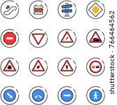 line vector icon set  ... | Shutterstock .eps vector #766464562