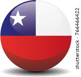 chile national circle button...
