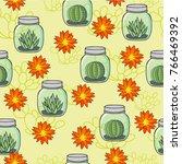 seamless vector pattern. small... | Shutterstock .eps vector #766469392