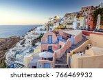 vier of oia village   santorini ... | Shutterstock . vector #766469932