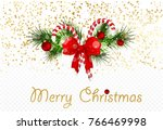 christmas background with fir... | Shutterstock .eps vector #766469998