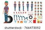 truck driver vector. animated... | Shutterstock .eps vector #766473052