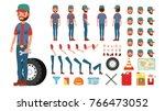 truck driver vector. animated... | Shutterstock .eps vector #766473052