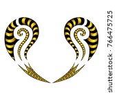 tattoo art designs.maori style... | Shutterstock .eps vector #766475725